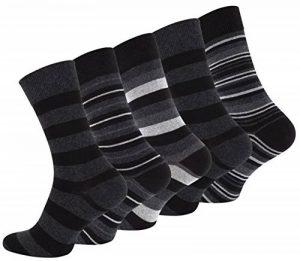 """Lot de 10 paires de chaussettes pour hommes, vêtements décontractés, """"STRIPES"""", avec du coton riche de la marque Vincent-Creation image 0 produit"""