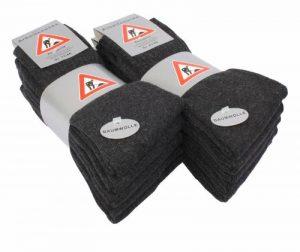 Lot de 10 paires de chaussettes professionnelles - hautement résistantes - noir/gris foncé/vert kaki de la marque VCA image 0 produit