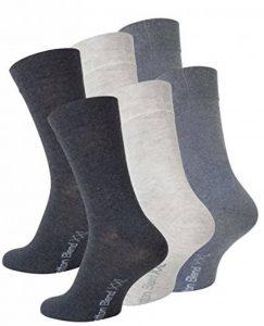 Lot de 6 paires de chaussettes - coton - homme - camaïeu de gris- taille XXL (47/50) de la marque VCA image 0 produit
