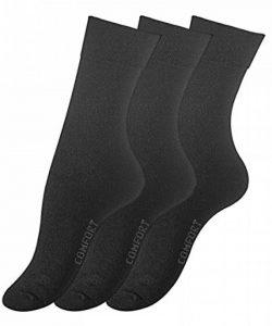 Lot de 6 paires de chaussettes sans élastique - coton - pointe remaillée main sans pression - grand confort - femme de la marque VCA image 0 produit