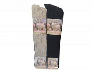 Lot de 6 paires de grosses chaussettes chaudes en laine - 3 styles: grandes pointures 45-48, chaussettes en laine pointures 39-44, chaussettes de marche, de randonnée, de ski, de travail de la marque Louise23 image 0 produit