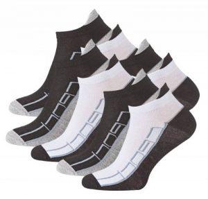 Lot de 8 paires de socquettes - coton et élasthanne - talon ajusté et inscription Sport - pointe remaillée main - bicolore de la marque VCA image 0 produit
