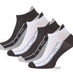Lot de 8 paires de socquettes - coton et élasthanne - talon ajusté et inscription Sport - pointe remaillée main - bicolore de la marque VCA image 3 produit