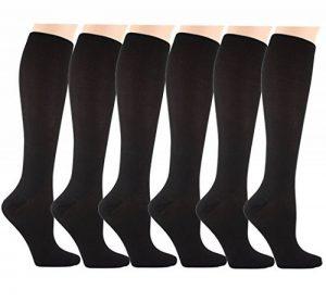 Matchwill 6 Paire Chaussettes de Compression pour Hommes et Femmes - Le Confort est Conçu à l'utilisation Quotidienne, de Fonctionnement Idéal, de Grossesse,de Vol et de Voyage de la marque Matchwill image 0 produit