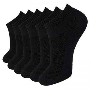 +MD Paquet antibactérien de qualité supérieure ultra doux pour absorber l'humidité et les chaussettes unisexes, 6 paires de la marque MD image 0 produit