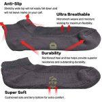 +MD Paquet antibactérien de qualité supérieure ultra doux pour absorber l'humidité et les chaussettes unisexes, 6 paires de la marque MD image 3 produit