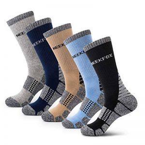 NEEKFOX Chaussettes de randonnée Cushion Crew pour Homme, Chaussettes de Sport en extérieur Multi Performance de la marque NeekFox image 0 produit