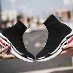 NEWCOLOR Mode Unisexe Slip-on Haute Coupe Marche Formateurs Confort Couple Mocassins Chaussures Tricot Gym Baskets de la marque NEWCOLOR image 3 produit