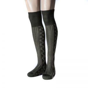 NORDPOL-Strümpfe Pôle Nord Genoux Taille Chaussette avec motif jacquard pour Chasseurs et les randonneurs en laine vierge, fabriqué en Allemagne de la marque NORDPOL-Strümpfe image 0 produit