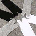 NUOLUX Chaussettes coton élastique Tabi Toe chaussettes 3 paires (blanc + gris + noir) de la marque NUOLUX image 4 produit