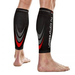 NV Compression 365 Manchons de compression pour les mollets - Noir - Compression Sports Calf Sleeves - Black - For Running, Cycling, Triathlon, Crossfit, Gym de la marque NV-Compression image 0 produit