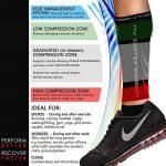 NV Compression 365 Manchons de compression pour les mollets - Noir - Compression Sports Calf Sleeves - Black - For Running, Cycling, Triathlon, Crossfit, Gym de la marque NV-Compression image 2 produit