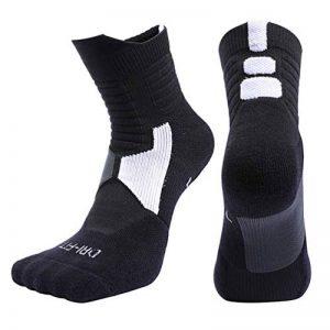 OK Sakady(3 paires)Unisexe Coton Humidité Mèche Mid Tube Basketball sport Chaussettes Pour Hommes et femmes Adapté Pour toutes les saisons de la marque OKSakady image 0 produit