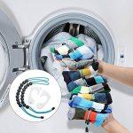 Organisateur de chaussettes - Facile à clipser et à serrer Chaussettes jumelées sans attaches, poches et séparateurs pour magasin de lavage de linge et ne jamais perdre de chaussettes (paquet de 2) de la marque Eklead image 2 produit