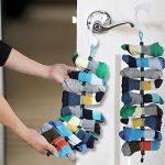 Organisateur de chaussettes - Facile à clipser et à serrer Chaussettes jumelées sans attaches, poches et séparateurs pour magasin de lavage de linge et ne jamais perdre de chaussettes (paquet de 2) de la marque Eklead image 4 produit