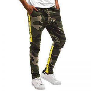 OSYARD Pantalon Homme Slim Fit Coton, Jogging Sport Homme Pantalon K73 Longue Formation Legging Taille élastique Mid Camouflage de la marque OSYARD image 0 produit