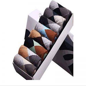 Ouyeye [8 Paires Chaussettes Business Chaussettes pour Hommes Chaussettes pour Hommes en Tube De Coton Peigné en Losange Angleterre de la marque Ouyeye image 0 produit