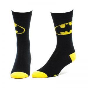 Paire de Chaussettes Batman Noires et Jaunes Logo Classique de la marque Bioworld image 0 produit