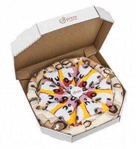 PIZZA SOCKS BOX - Pizza Capriciosa - 4 paires de Chaussettes FANTAISIE Uniques et Originales - CADEAU Drôle en COTON!   pour Fammes et Hommes, Tailles UE: 36-40, 41-46 fabriqué dans l'UE de la marque Rainbow-Socks image 0 produit