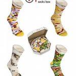 PIZZA SOCKS BOX - Pizza MIX Hawaïenne Italienne Capriciosa - 4 paires de Chaussettes FANTAISIE Uniques et Originales - CADEAU Drôle en COTON!  pour Fammes et Hommes, UE: 36-40, 41-46 Made in Europe de la marque Rainbow-Socks image 2 produit