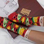 PIZZA SOCKS BOX - Pizza MIX Hawaïenne Italienne et Végétarienne - 4 paires de Chaussettes FANTAISIE Uniques et Originales - CADEAU Drôle en COTON!  pour Fammes et Hommes Made in Europe de la marque Rainbow-Socks image 3 produit