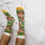 PIZZA SOCKS BOX - Pizza MIX Hawaïenne Italienne et Végétarienne - 4 paires de Chaussettes FANTAISIE Uniques et Originales - CADEAU Drôle en COTON!  pour Fammes et Hommes Made in Europe de la marque Rainbow-Socks image 4 produit