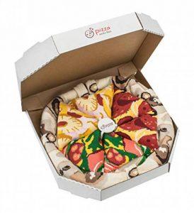 PIZZA SOCKS BOX - Pizza MIX Hawaïenne Italienne Peppéroni - 4 paires de Chaussettes FANTAISIE Uniques et Originales - CADEAU Drôle en COTON! |pour Fammes et Hommes, UE: 36-40, 41-46|Made in Europe de la marque Rainbow-Socks image 0 produit