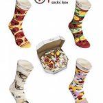 PIZZA SOCKS BOX - Pizza MIX Végétarienne Capriciosa Peppéroni- 4 paires de Chaussettes FANTAISIE Uniques et Originales - CADEAU Drôle en COTON! |pour Fammes et Hommes, UE: 36-40, 41-46|Made in Europe de la marque Rainbow-Socks image 2 produit