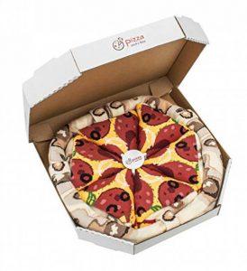PIZZA SOCKS BOX - Pizza Peppéroni - 4 paires de Chaussettes FANTAISIE Uniques et Originales - CADEAU Drôle en COTON! | pour Fammes et Hommes, Tailles UE: 36-40, 41-46|fabriqué dans l'UE de la marque Rainbow-Socks image 0 produit