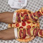 PIZZA SOCKS BOX SLICE - Peppéroni - 1 paire de Chaussettes FANTAISIE Uniques et Originales - CADEAU Drôle en COTON! Fun Gadget   pour Fammes et Hommes, Tailles UE: 36-40, 41-46 fabriqué dans l'UE de la marque Rainbow-Socks image 3 produit