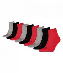 Puma 9 paire Unisexe Chaussettes, Quart Baskets, CHAUSSETTES COURTES de la marque Puma image 0 produit
