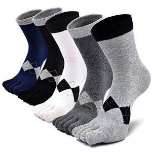 PUTUO Chaussettes avec Orteils Homme Chaussettes Doigts de Pied Séparés, Homme Chaussettes de Sport et d'affaire en Coton, 3/4/5 paires de la marque PUTUO image 0 produit