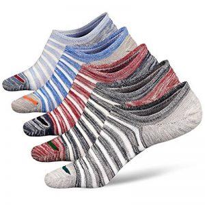 PUTUO Chaussettes Basses Homme Chaussettes Invisibles en Coton avec Silicone, Protège-Pieds Homme Socquettes Chaussettes de Sport, 5 paires de la marque PUTUO image 0 produit