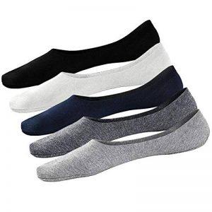 PUTUO Chaussettes Invisibles Homme Socquettes en Coton, Protège-Pied Homme Chaussettes Basses Courtes Chaussettes de Sport et Décontracté, Antiglisse, 5 paires de la marque PUTUO image 0 produit