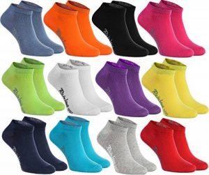 Rainbow Socks 6, 9 ou 12 paires de chaussettes courtes de 12 couleurs faites dans l'UE, le coton de haute qualité certifié Oeko-Tex, plusieurs tailles: 36, 37, 38, 39, 40, 41, 42, 43, 44, 45, 46 by de la marque Rainbow-Socks image 0 produit