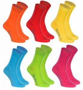 Rainbow Socks 6, 9 ou 12 paires de Chaussettes de Coton de 12 couleurs faites dans l'UE, le coton de haute qualité certifié Oeko-Tex, plusieurs tailles: 36, 37, 38, 39, 40, 41, 42, 43, 44, 45, 46 by de la marque Rainbow-Socks image 0 produit