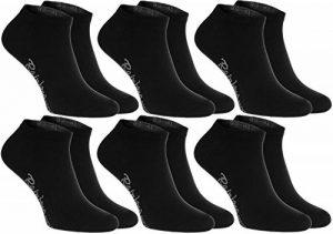 Rainbow Socks 6 paires de chaussettes courtes, noires, fabriquées en Europe, de coton, beaucoup de tailles 36 37 38 la plus haute qualité, femmes et hommes by de la marque Rainbow-Socks image 0 produit