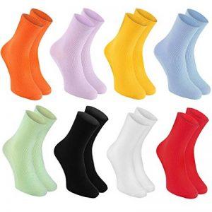 Rainbow Socks - 8 paires de Chaussettes pour les DIABÉTIQUES parfaites pour les JAMBES ENFLEES et VARICES - Confortables et Délicates, SANS PRESSION - Couleurs Claires|pour Famme et Homme, made en UE de la marque Rainbow-Socks image 0 produit