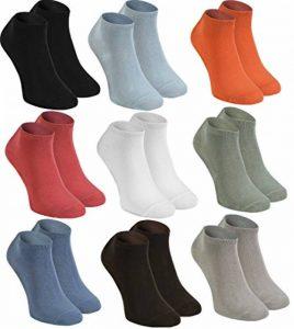 Rainbow Socks Socquettes en BAMBOU by Chaussettes COURTES, Délicates, Antibactériennes, Respirantes, Douces, Confortable Multicolore Pack pour Famme et Homme, Made en EUROPE de la marque Rainbow-Socks image 0 produit
