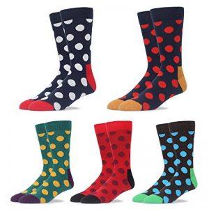 RioRiva chaussettes classique tendance pour homme formel en coton peigné à motifs géométriques colorés grande taille différents motifs et coloris disponible de la marque RioRiva image 0 produit