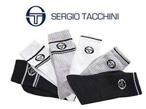 Sergio Tacchini Lot de 6,12 Paires de Chaussettes Sport Tennis pour Homme en Couleurs Assorties - ST2 de la marque Sergio-Tacchini image 0 produit