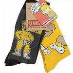 Simpsons Y1h173The–Homer Chaussettes pour Homme (Taille 6–11, Lot de 2) de la marque Simpsons image 1 produit