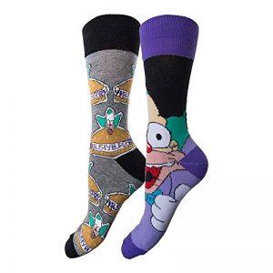 Simpsons Y1h305Krusty Le Clown Chaussettes pour Homme (Taille 6–11, Lot de 2) de la marque Simpsons image 0 produit