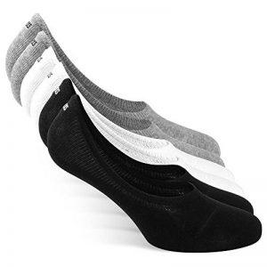 Snocks invisible socks - Socquettes courtes hommes et femmes – Protège-pieds invisibles (6 paires). Pointure 35 à 50 Couleur: noir, blanc, gris, bleu, rose – Protège-pieds coton de la marque Snocks image 0 produit