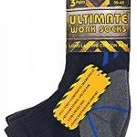 Sock Snob 3, 6, 12 paires homme chaussettes courtes basses respirantes travail avec renforcées pour chaussures sécurité de la marque Sock-Snob image 1 produit