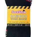 Sock Snob 3, 6, 12 paires homme coton bambou anti transpiration respirant chaussettes de travail avec renforcees bottes de sécurité de la marque Sock-Snob image 1 produit