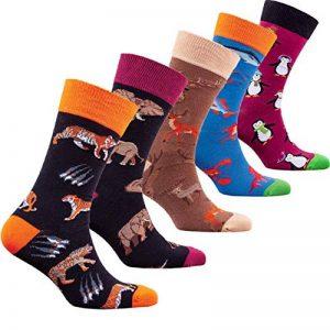 socks n socks-Homme 5 paire de Luxe Coloré Coton Amusement Nouveauté Robe Chaussettes Boite Cadeau de la marque socks+n+socks image 0 produit