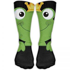Socksforu Chaussettes classiques pour hommes, chaussettes Grenouille verte et mignonne avec une couronne de bas athlétiques, chaussette longue de 30 cm, taille unique de la marque Socksforu image 0 produit