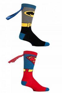 SockShop DC Comics Superman et Batman Chaussettes avec capes - 2 paires - Homme de la marque Sock-Shop image 0 produit
