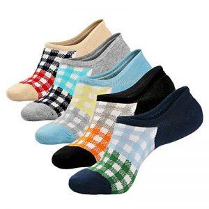 Soxtome 5 Paires de Chaussettes Basses Femmes Antidérapantes en Coton Coupe-bas Chaussettes Invisible Décontractées pour Chaussures Bateau Richelieus Mocassins Baskets de la marque Soxtome image 0 produit